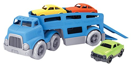 Green Toys Car Carrier Vehicle Set Toy Blue Santabilt 174